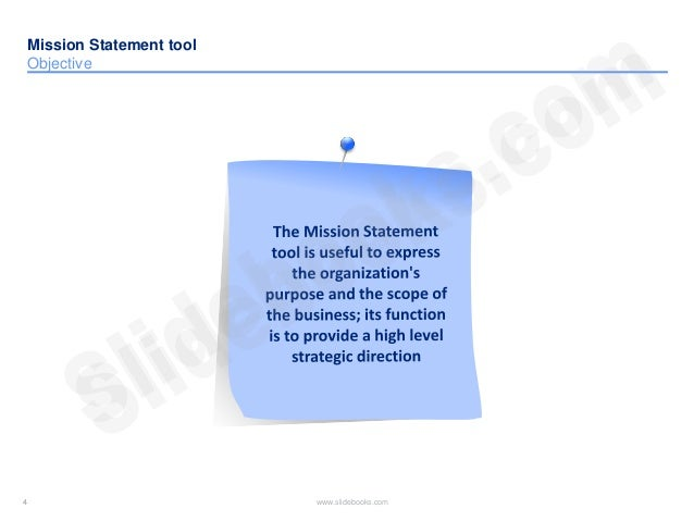 Mission statement templates in Powerpoint – Purpose Statement Template