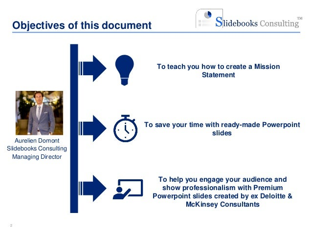 Mission Statement Templates By Ex Mckinsey Consultants