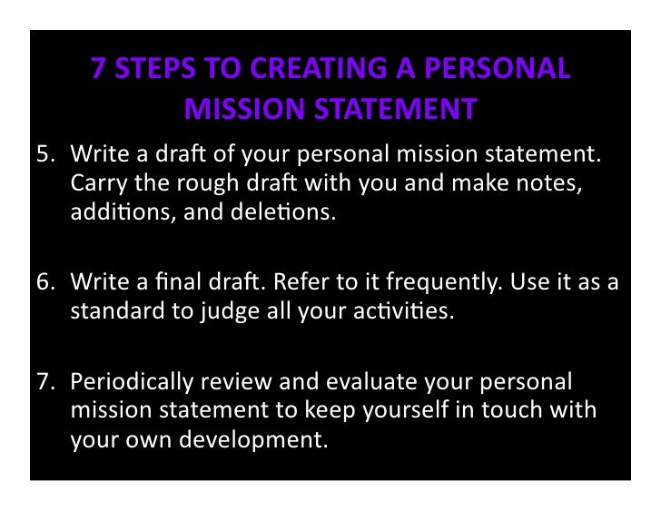 evaluating mission statements
