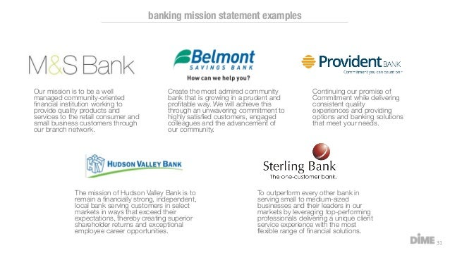 Bank Mission Statement Examples Gallery - example cover letter for ...