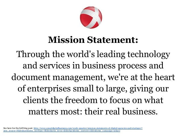 Marketing firm mission statement