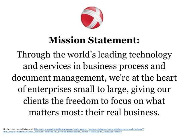 Marketing firm mission statement