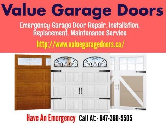 Mississauga Garage Door Repair Services Value Garage Doors
