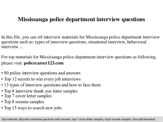 Mississauga Police Department Interview Questions In This File, You Can Ref  Interview Materials For Mississauga ...