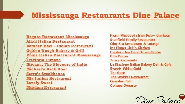 Mississauga restaurants dine palace for The perfect kitchen mississauga menu