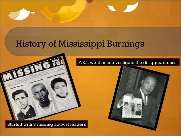 mississippi burning powerpoint mississippi burning shayla bishop 2