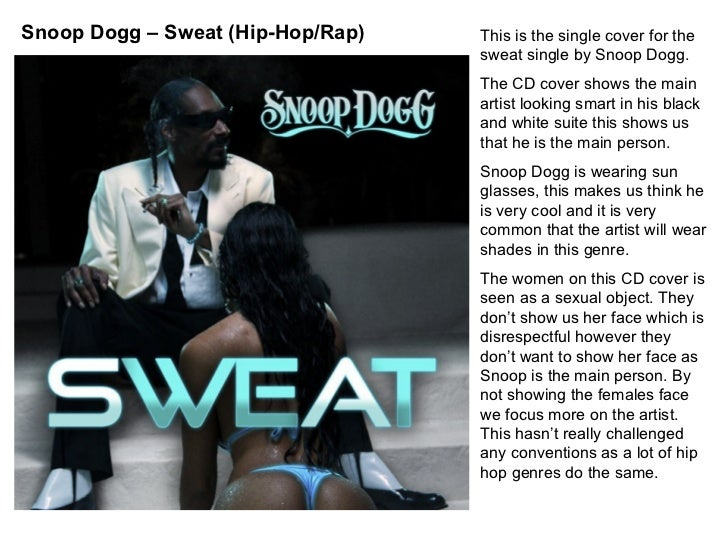 This is the single cover for the sweat single by Snoop Dogg. The CD cover shows the main artist looking smart in his black...