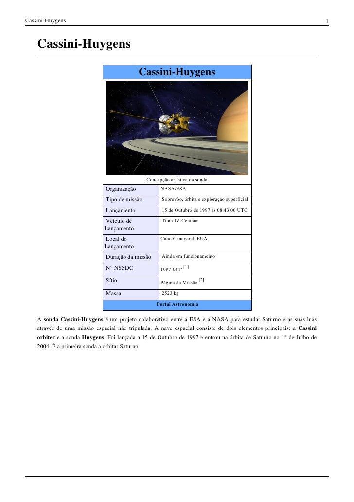 Cassini-Huygens                                                                                                      1    ...
