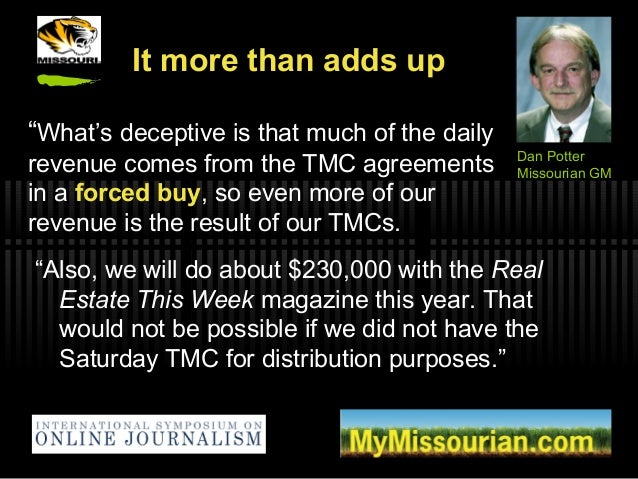 """It more than adds up """"Also, we will do about $230,000 with the Real Estate This Week magazine this year. That would not be..."""