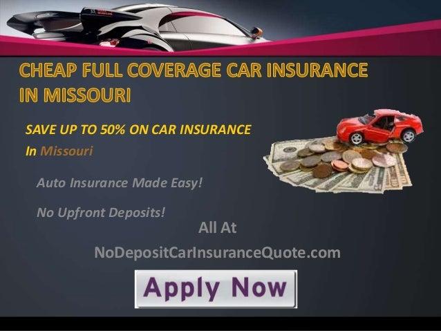 Cheap Full Coverage Car Insurance Missouri