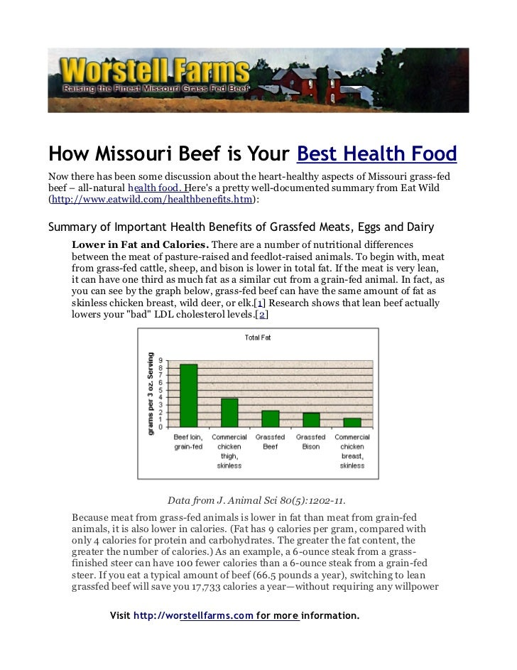 How Missouri Beef is Your Best Health FoodNow there has been some discussion about the heart-healthy aspects of Missouri g...
