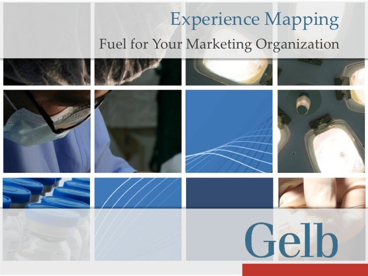 Experience Mapping Fuel for Your Marketing Organization