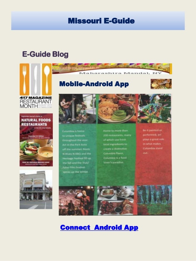 Mobile-App Missouri E-Guide Mobile-Android App E-Guide Blog Connect Android App