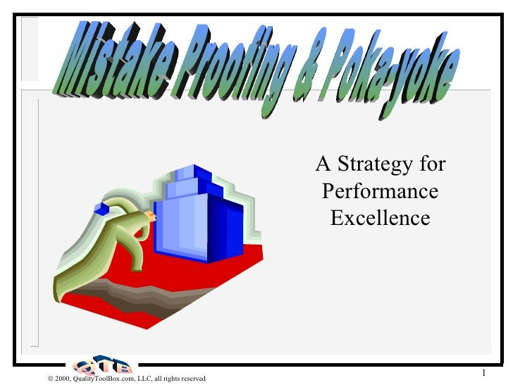 A Strategy for Performance Excellence Mistake Proofing & Poka-yoke