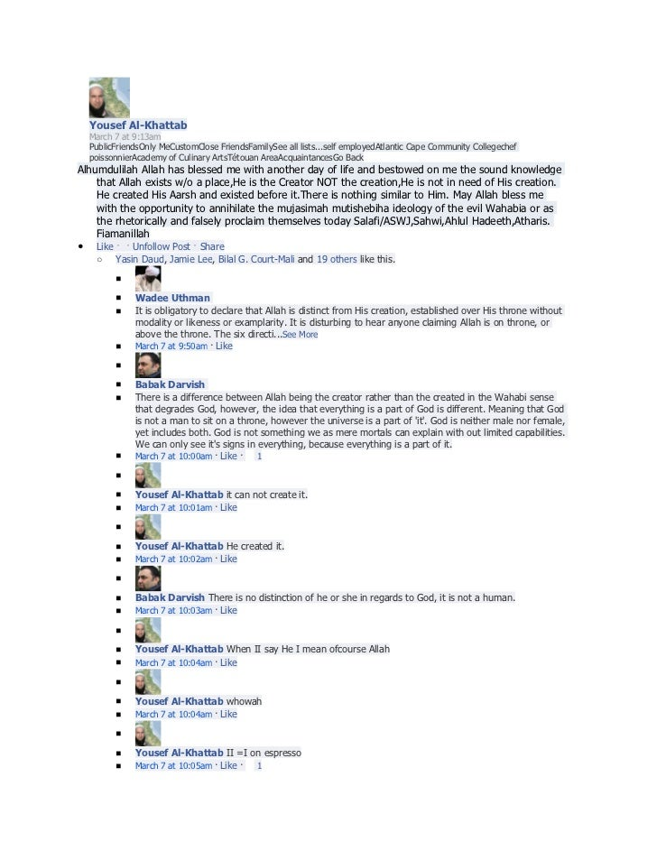 Yousef Al-Khattab    March 7 at 9:13am    PublicFriendsOnly MeCustomClose FriendsFamilySee all lists...self employedAtlant...