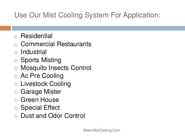 Misting Systems By MistCooling