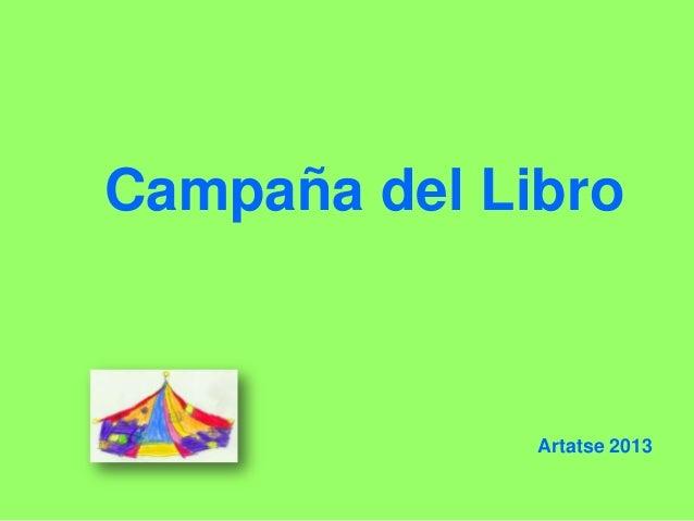 Campaña del LibroArtatse 2013