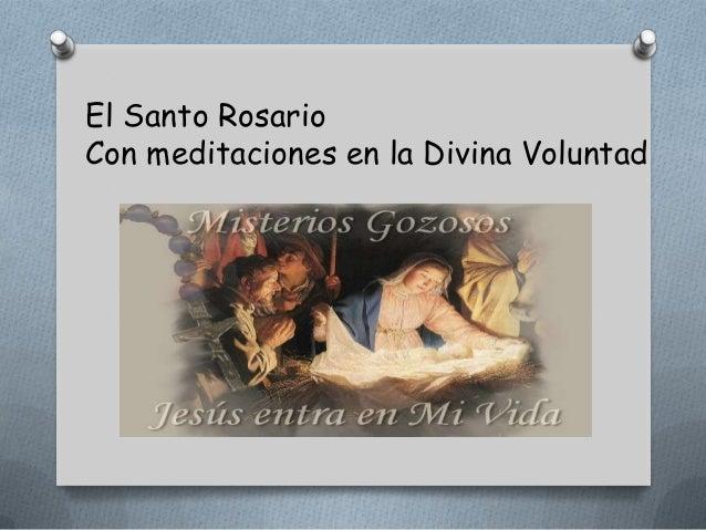 El Santo RosarioCon meditaciones en la Divina Voluntad