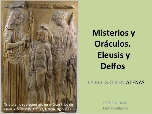 Misterios y                                                  Oráculos.                                                   E...