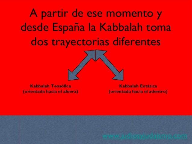 A partir de ese momento y desde España la Kabbalah toma dos trayectorias diferentes www.judiosyjudaismo.com Kabbalah Teosó...