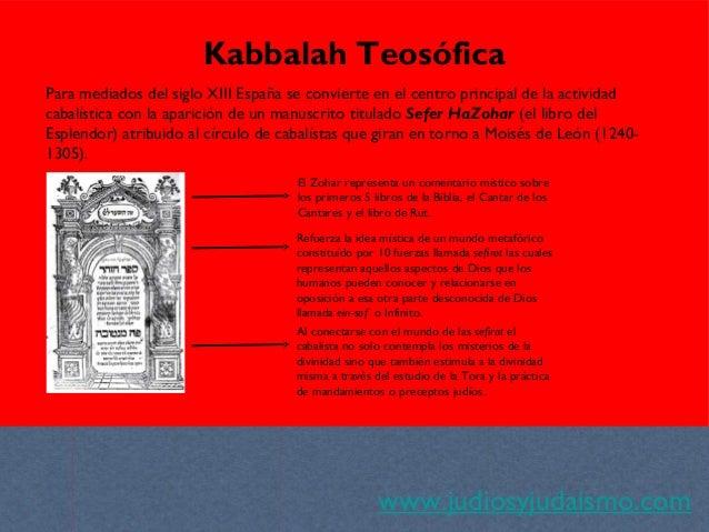 www.judiosyjudaismo.com Kabbalah Teosófica Para mediados del siglo XIII España se convierte en el centro principal de la a...