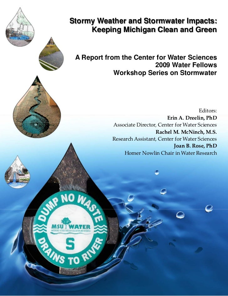 Stormy Weather and Stormwater Impacts:     Keeping Michigan Clean and Green A Report from the Center for Water Sciences   ...