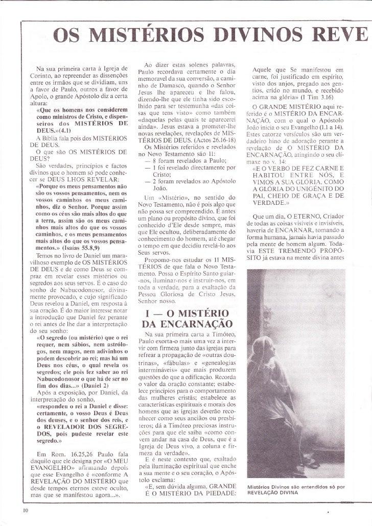 Revista O Clamor - 5 - Os Mistérios Divinos Revelados no Novo Testamento