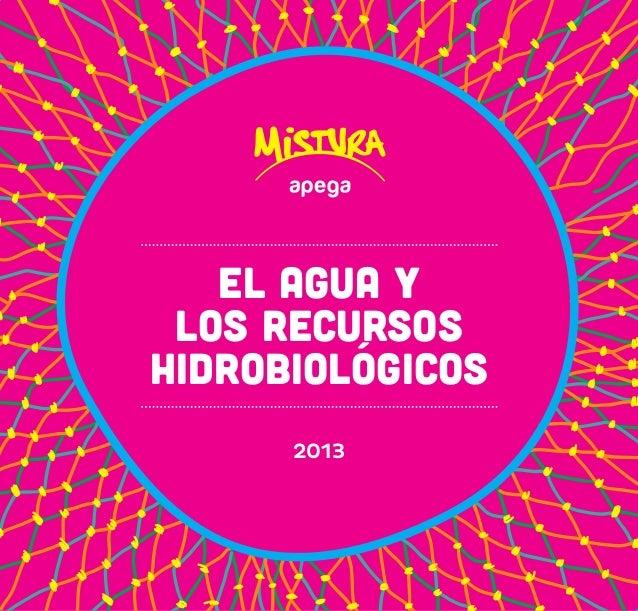 2013  EL AGUA Y  LOS RECURSOS  HIDROBIOLÓGICOS