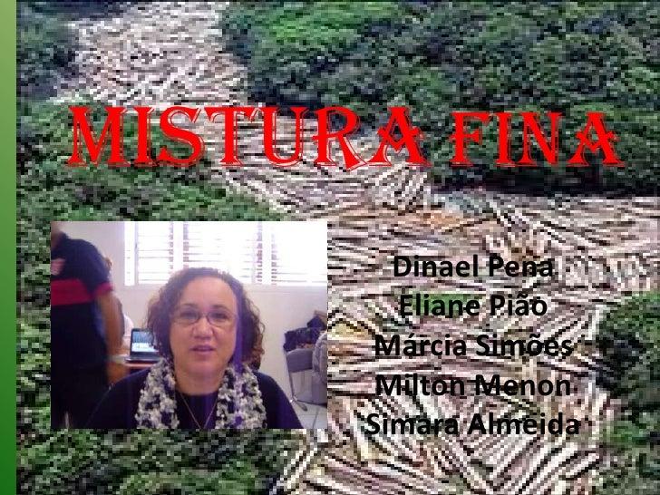 MISTURAFINA <br />Dinael PenaEliane PiãoMárcia SimõesMilton MenonSimara Almeida<br />