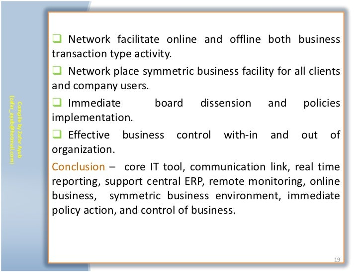  Network facilitate online and offline both business                           transaction type activity.                ...