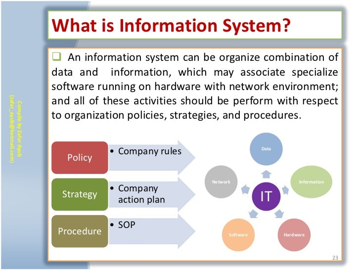 What is Information System?                            An information system can be organize combination of              ...