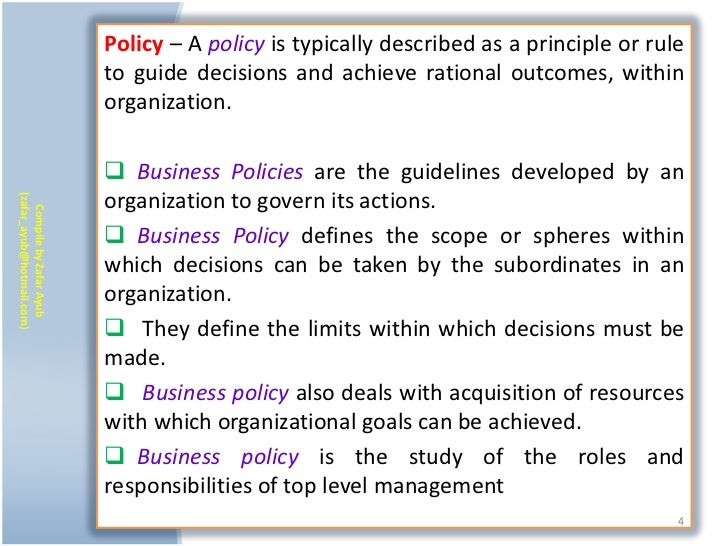 Policy – A policy is typically described as a principle or rule                           to guide decisions and achieve r...