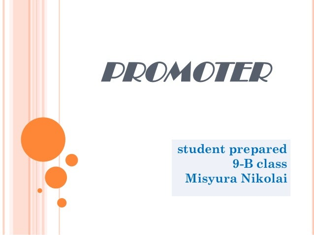 PROMOTER student prepared 9-B class Misyura Nikolai