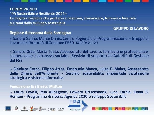MISURARE - Premio PA - Template_PPT - SDGs ESI FUNDS INDEX - RAS-FEEM Slide 3