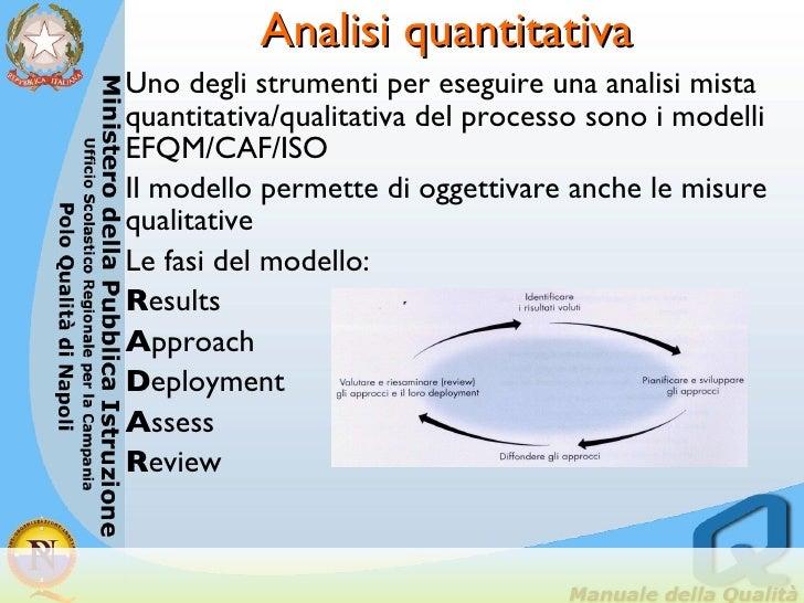Analisi quantitativa <ul><li>Uno degli strumenti per eseguire una analisi mista quantitativa/qualitativa del processo sono...