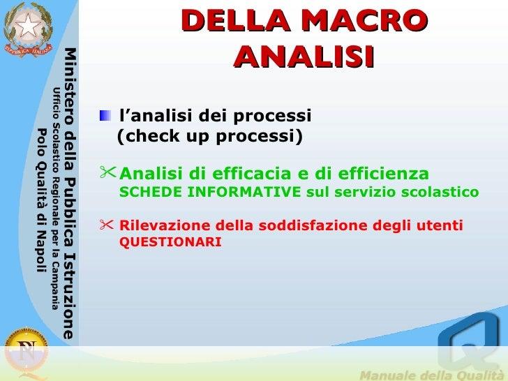 STRUMENTI DELLA MACRO ANALISI <ul><li>l'analisi dei processi  </li></ul><ul><li>(check up processi) </li></ul><ul><li>Anal...