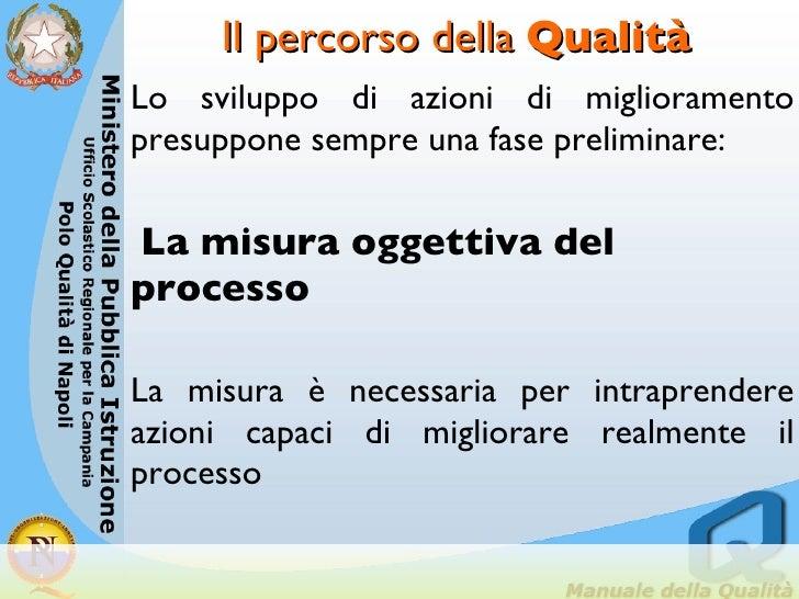 Il percorso della  Qualità <ul><li>Lo sviluppo di azioni di miglioramento presuppone sempre una fase preliminare: </li></u...