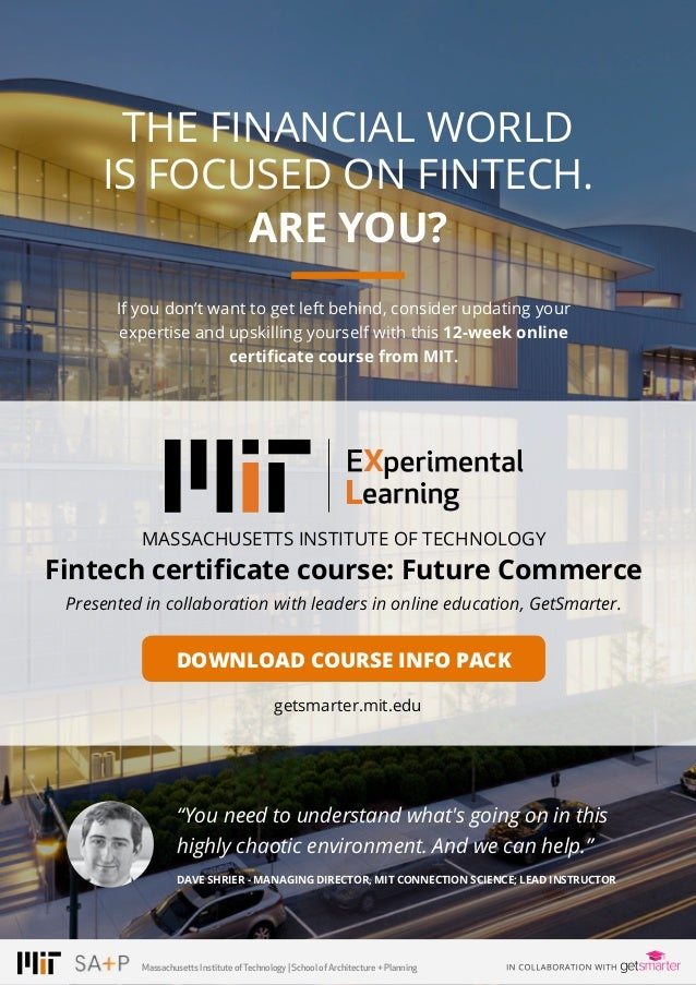 PAGE 19© 2016 ALL RIGHTS RESERVED. THE FINANCIAL WORLD IS FOCUSED ON FINTECH. ARE YOU? MASSACHUSETTS INSTITUTE OF TECHNOLO...