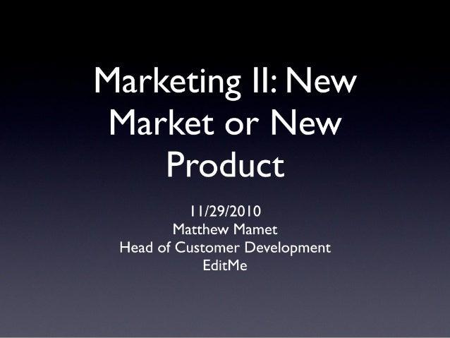 MIT Software SIG - Marketing II