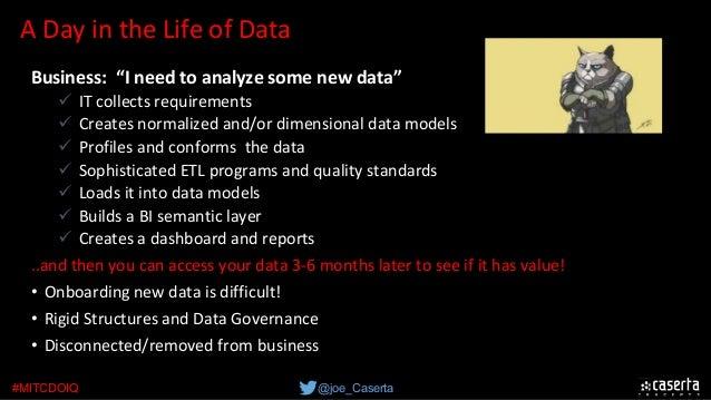 "@joe_Caserta#MITCDOIQ ADayintheLifeofData Business: ""I need to analyze some new data"" üITcollectsrequirements ü..."