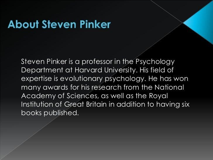 Steven Pinker on Feminism