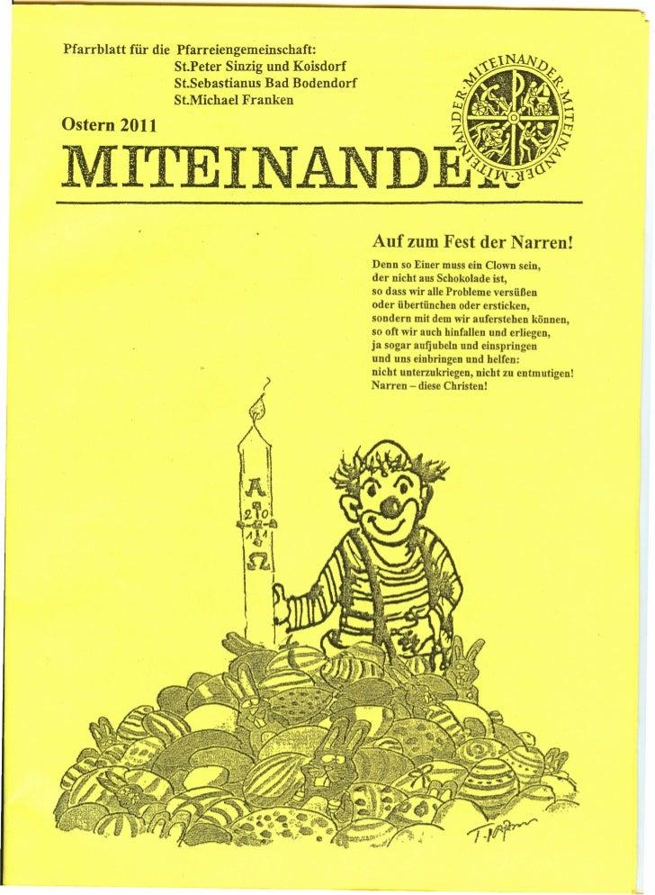 Pfarrblatt   für die Pfarreiengemeinschaft:                     St.Peter Sinzig und Koisdorf                     St.Sebast...