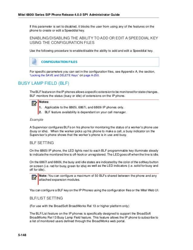 HowTo: Configuración de BLF en teléfonos Mitel