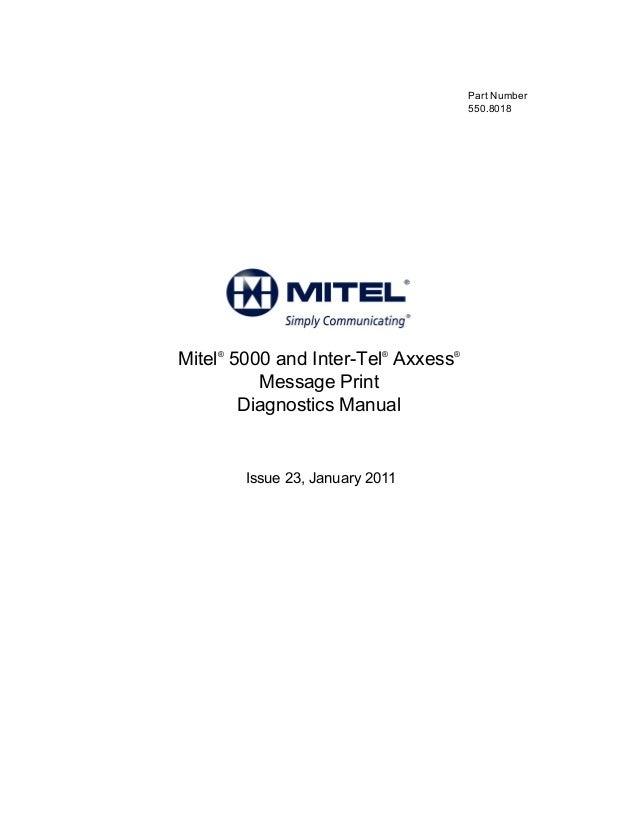 Mitel 5000 error logs - DENWA's guide