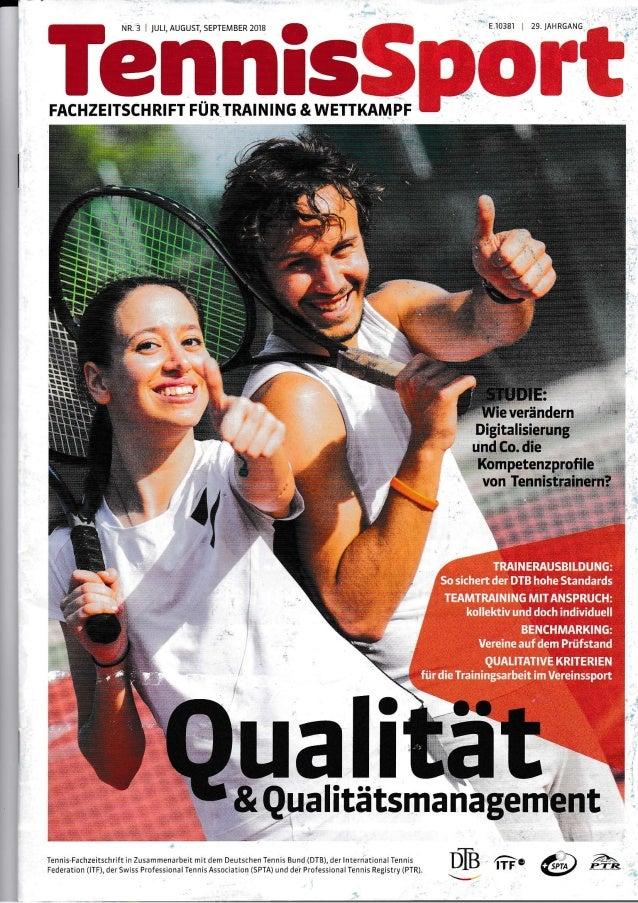 """- I""""ßld_mJSSpört *.''<r:'': Qualit verändern Digitalisierung und Co. die tl von Tr o I ts Tennis Fachzeirschrjft in Zusamm..."""