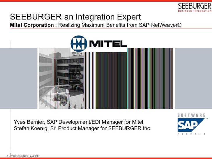 Mitel Corporation: Realizing Maximum Benefits from SAP NetWeaver®