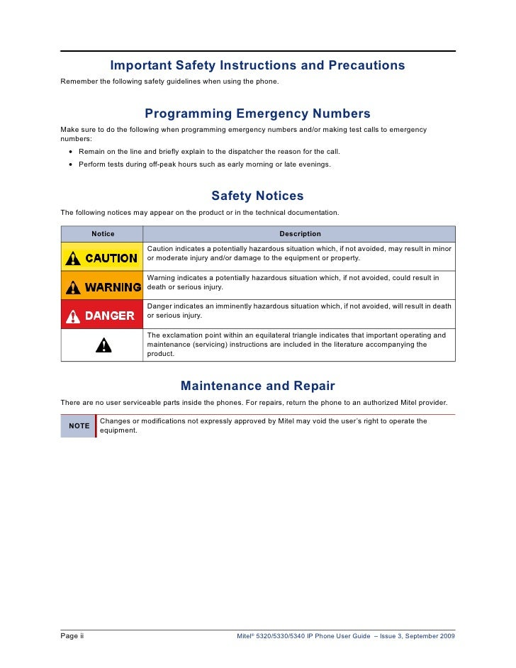 mitel 5320 ip phone manual