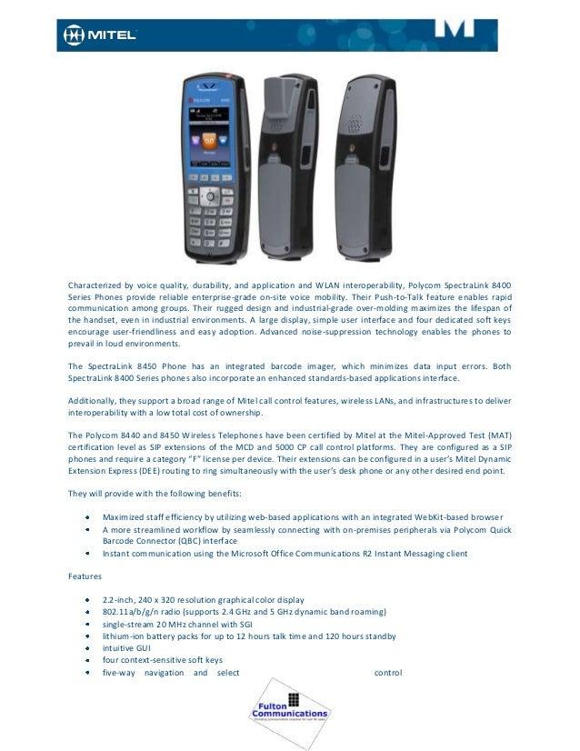 Mitel Telephones & Appliances 2013