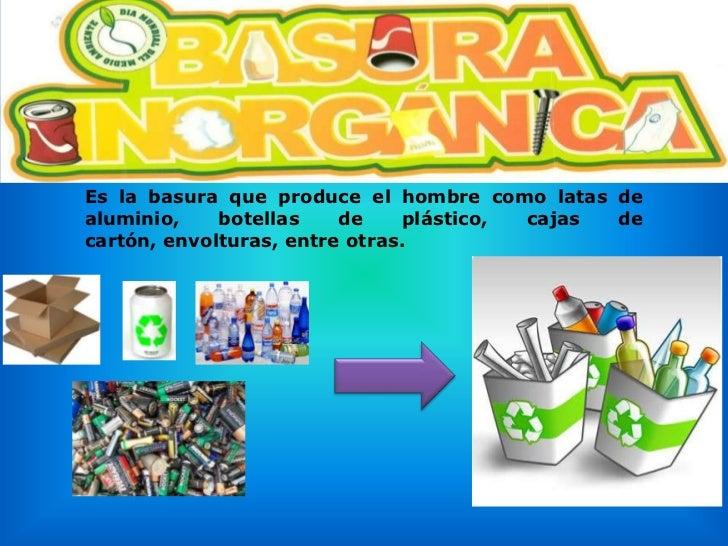 RECICLAJE Y SEPARACIÓN DE BASURA EN CASA
