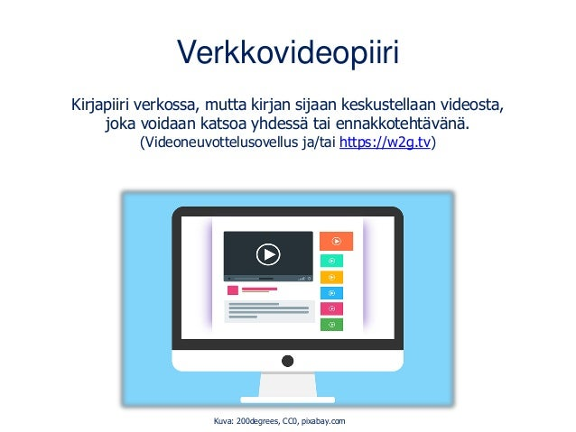 Verkkovideopiiri Kirjapiiri verkossa, mutta kirjan sijaan keskustellaan videosta, joka voidaan katsoa yhdessä tai ennakkot...